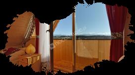 Białka Tatrzańska, domki, widok z balkonu
