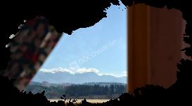 Białka Tatrzańska, domki, widok z okna