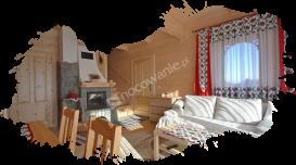 Białka Tatrzańska, domki, salon z kominkiem