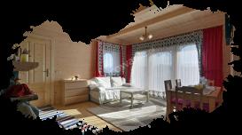 Białka Tatrzańska, domki, salon 2